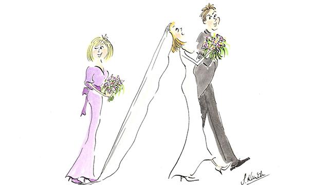 Distracted Bridesmaid